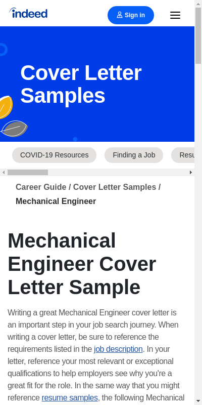 Cover Letter For Mechanical Engineer 20 Guides Examples