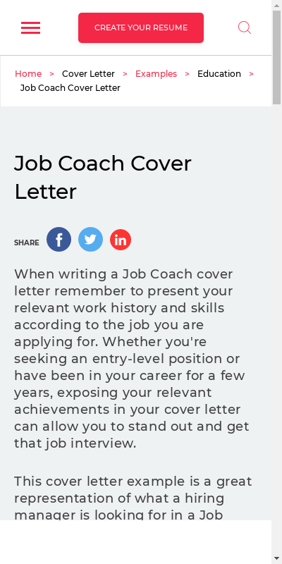 Career Coach Cover Letter 20 Guides Examples