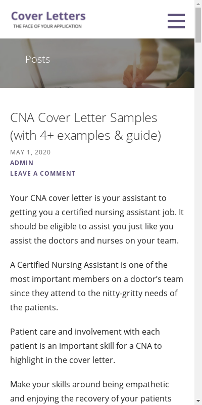 Cna Cover Letter With No Experience 20 Guides Examples