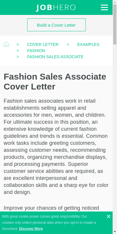 Fashion Retail Cover Letter 20 Guides Examples