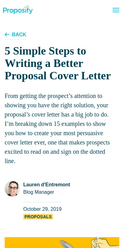 How To Write A Cover Letter For A Proposal 20 Guides Examples