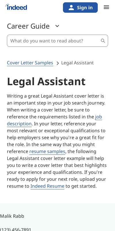 Sample Cover Letters For Legal Jobs 20 Guides Examples
