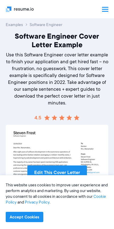 Software Cover Letters 20 Guides Examples
