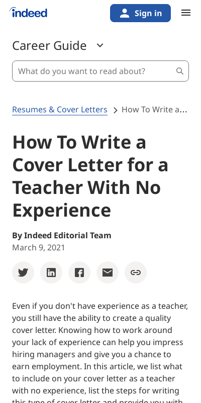 Sample Cover Letter For Teachers With No Experience 20 Guides Examples