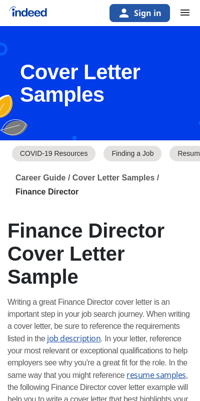 Finance Director Cover Letter 20 Guides Examples