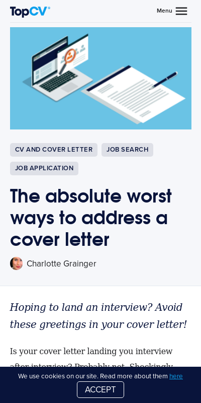 Cover Letter No Address 20 Guides Examples