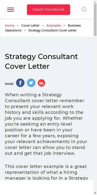 Strategy Consultant Cover Letter 20 Guides Examples