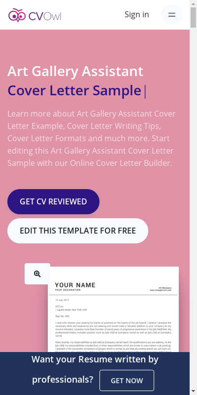 Art Gallery Cover Letter 20 Guides Examples