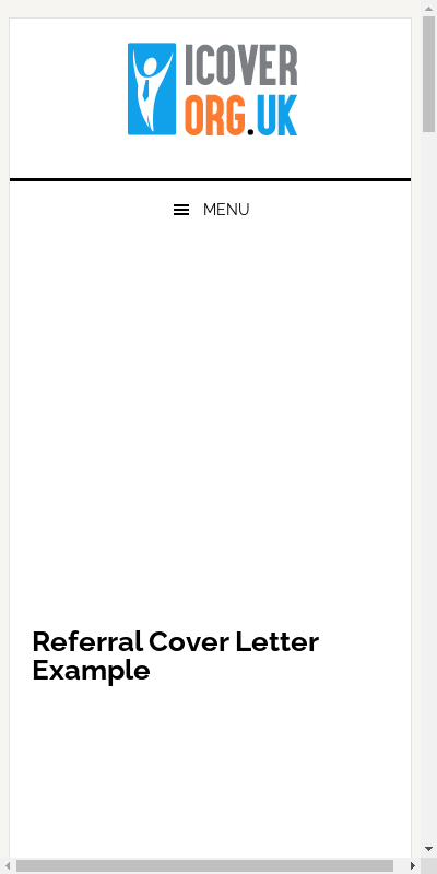 Referral Cover Letter Sample Example 20 Guides Examples