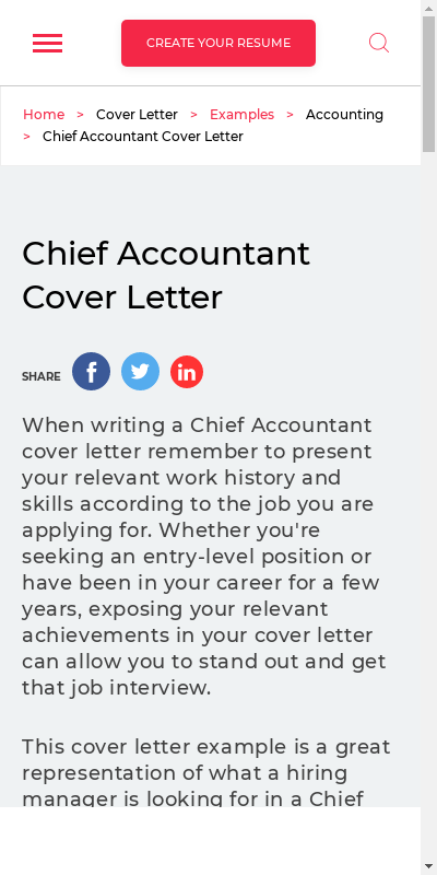Accountant Covering Letter For Resume 20 Guides Examples