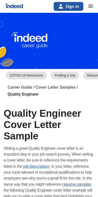 Quality Assurance Engineer Cover Letter 20 Guides Examples