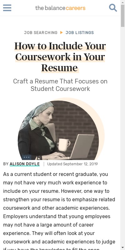 what does related coursework mean