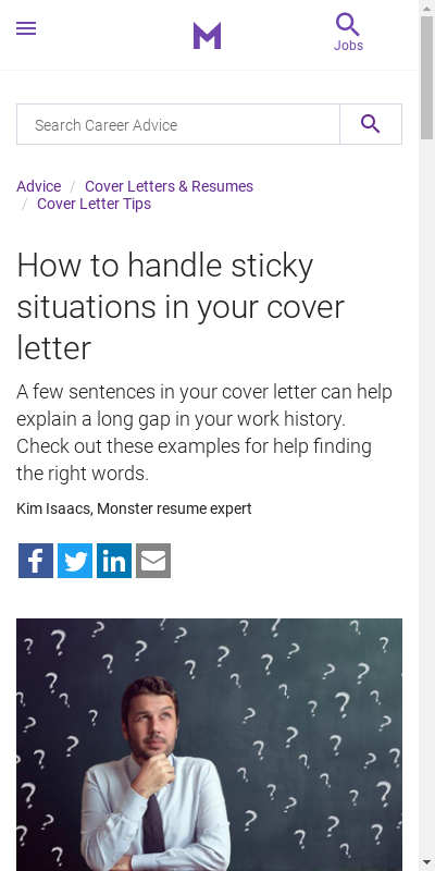 Sample Cover Letter With Employment Gaps 20 Guides Examples
