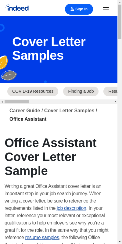 Cover Letter For Office Job 20 Guides Examples