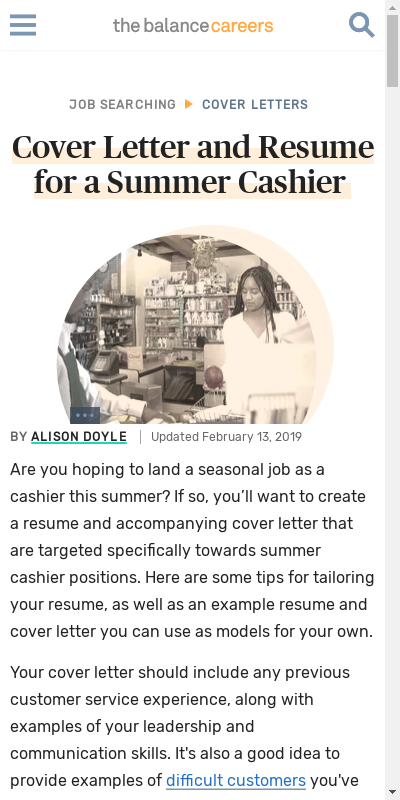 47+ Catchy Cover Letter Of Cashier  You'll Love