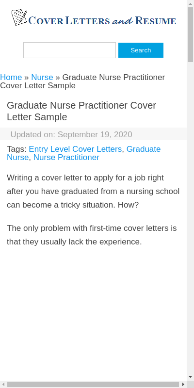 48+ Amazing New Grad Np Cover Letter  You Must Try