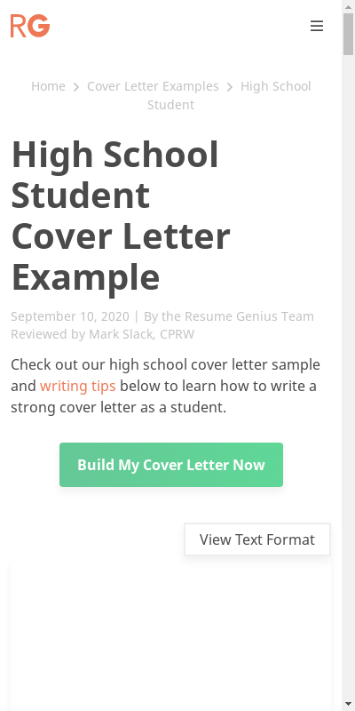 Sample Cover Letter For Students 20 Guides Examples