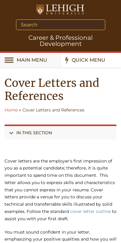 References In Cover Letter 20 Guides Examples