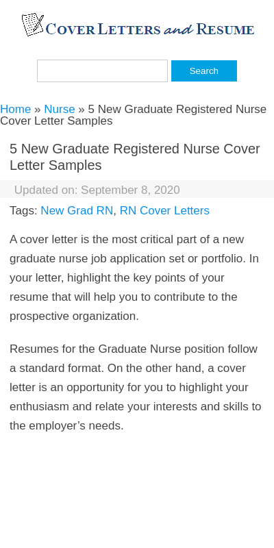 Entry Level Registered Nurse Cover Letter 20 Guides Examples