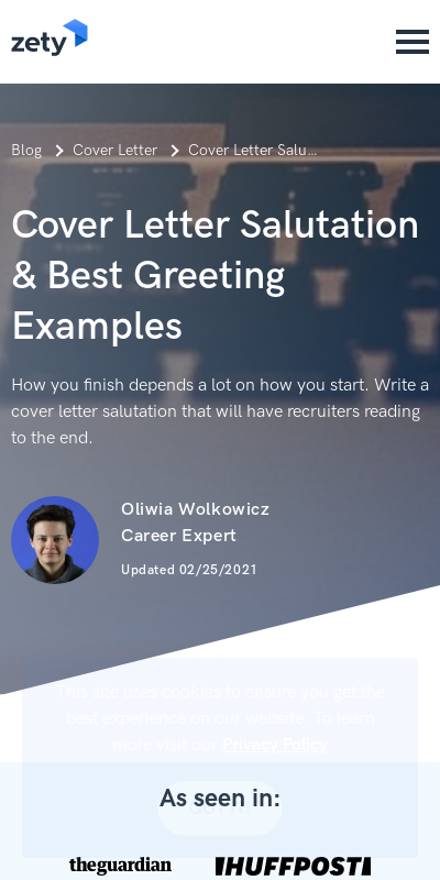 Salutation On Application 20 Guides Examples