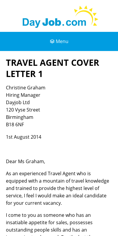 Cover Letter For Tourism Job 20 Guides Examples