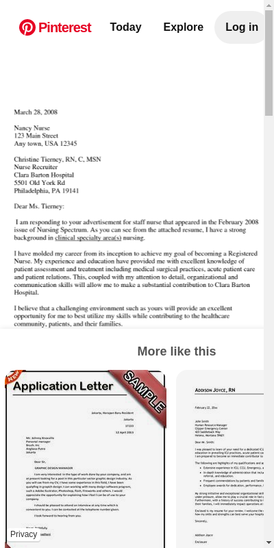 Sample Resume Cover Letter For Nurses 20 Guides Examples