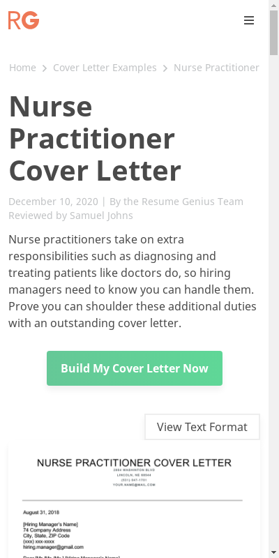 Indeed Nurse Practitioner Cover Letter Good Pictures Modern