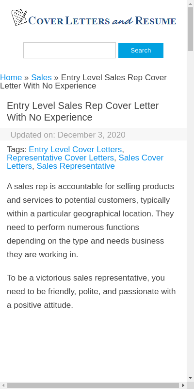 Sales Rep Cover Letter No Experience 20 Guides Examples