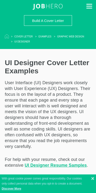 Ui Designer Cover Letter 20 Guides Examples