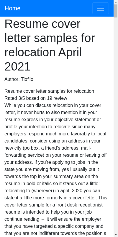 Relocation Cover Letter Sample 20 Guides Examples