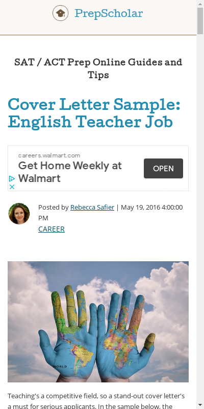 Cover Letter For English Teacher 20 Guides Examples
