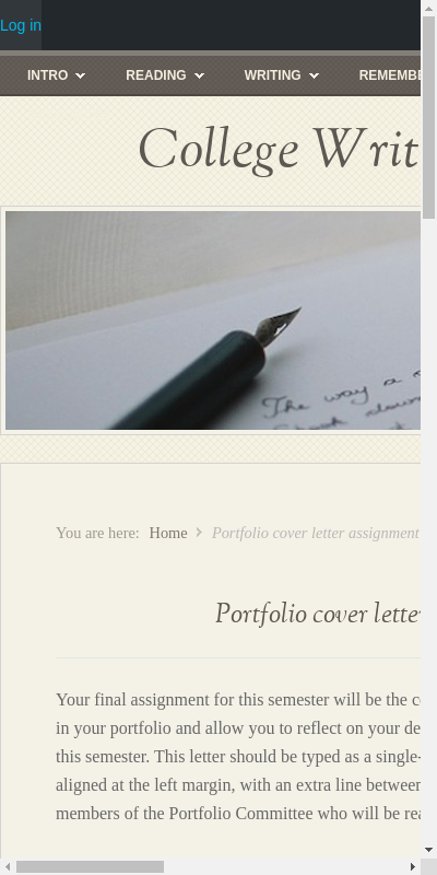 English Portfolio Cover Letter Example 20 Guides Examples