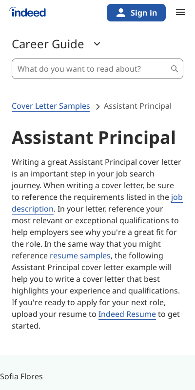 Assistant Principal Cover Letter No Experience 20 Guides Examples