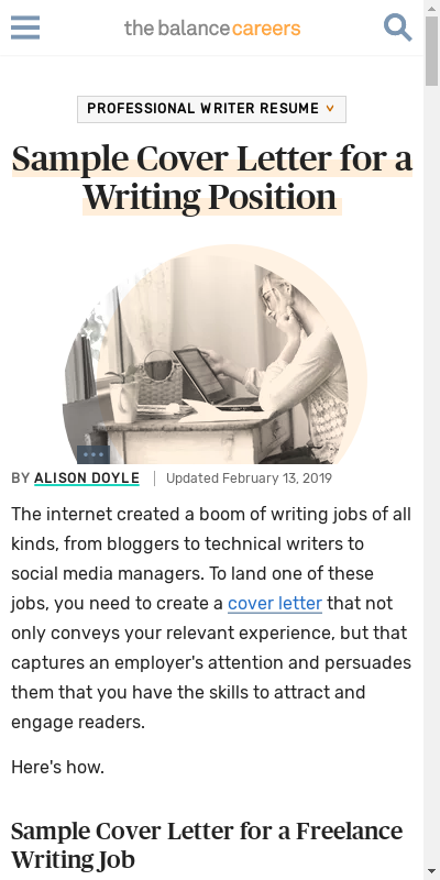 Cover Letter For Writing Sample 20 Guides Examples