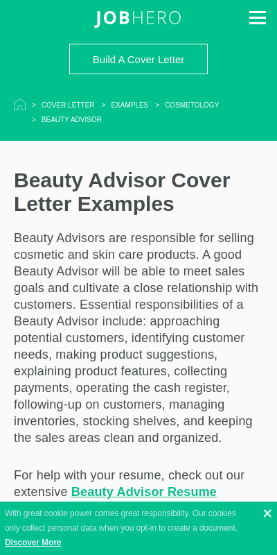 Sephora Cover Letter 20 Guides Examples