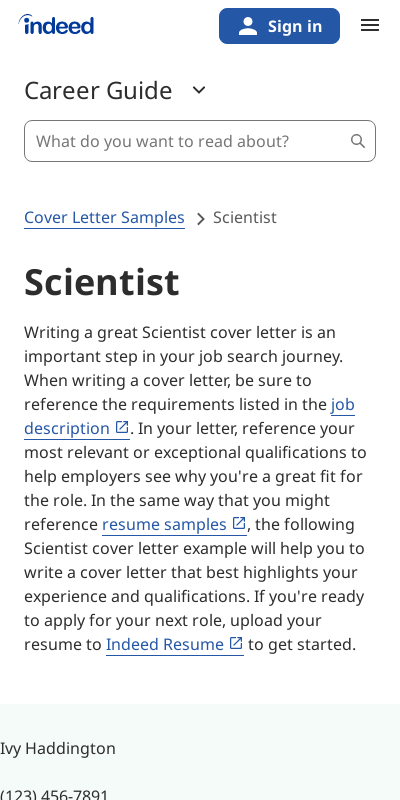 Cover Letter For Research Scientist Position 20 Guides Examples