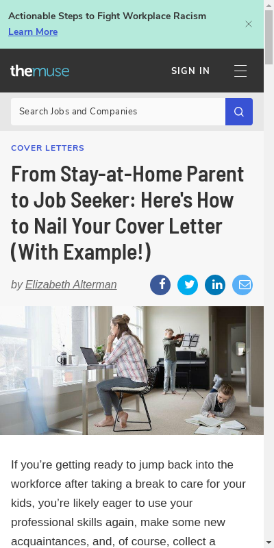 Sample Cover Letter For Stay At Home Mom Returning To Work 20 Guides Examples