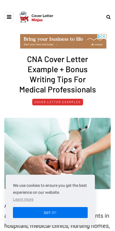 Cover Letter For Cna Job In Hospital 20 Guides Examples