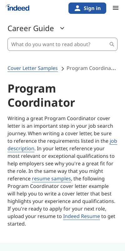 Cover Letter For Program Coordinator 20 Guides Examples