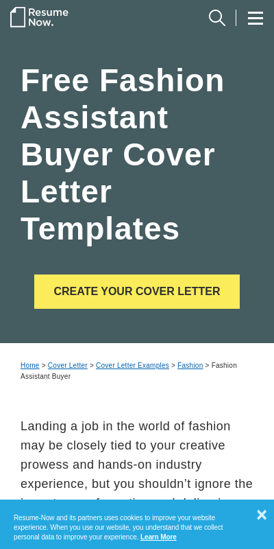 Fashion Cover Letter No Experience 20 Guides Examples