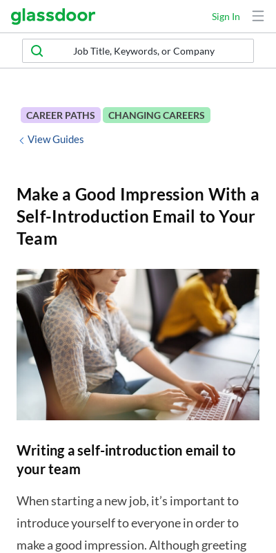 Sample introduction email new job How to