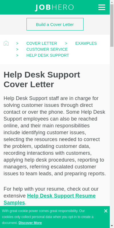 Helpdesk Support Cover Letter 20 Guides Examples