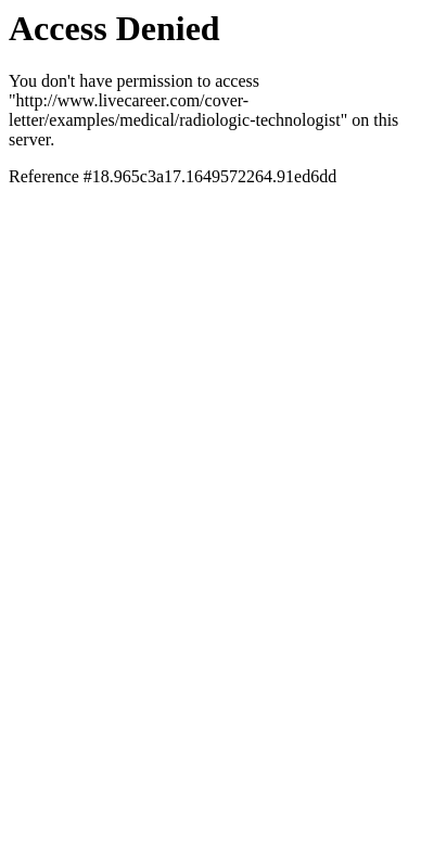 Rad Tech Cover Letter 20 Guides Examples
