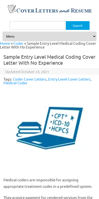 Cover Letter For Medical Billing And Coding With No Experience 20 Guides Examples