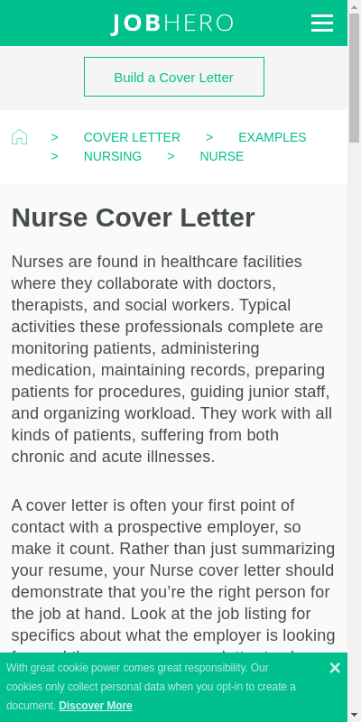 Resume Cover Letters Nursing 20 Guides Examples
