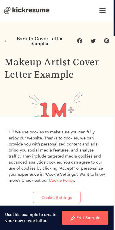Makeup Artist Cover Letter 20 Guides Examples