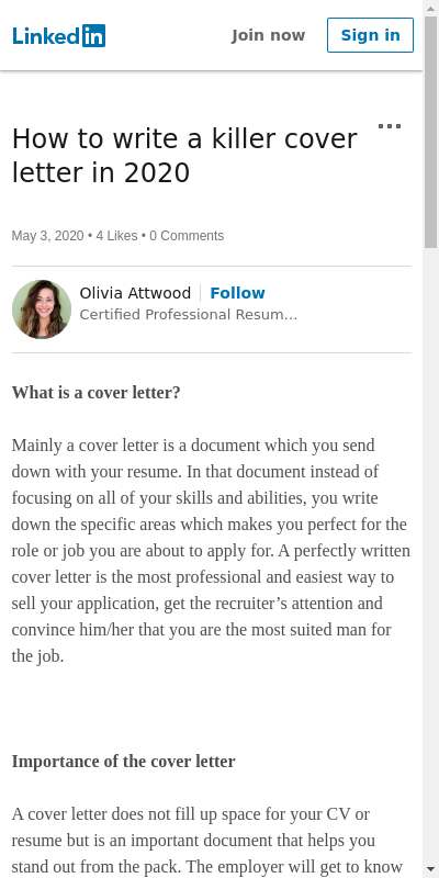 How To Write A Killer Cover Letter 20 Guides Examples