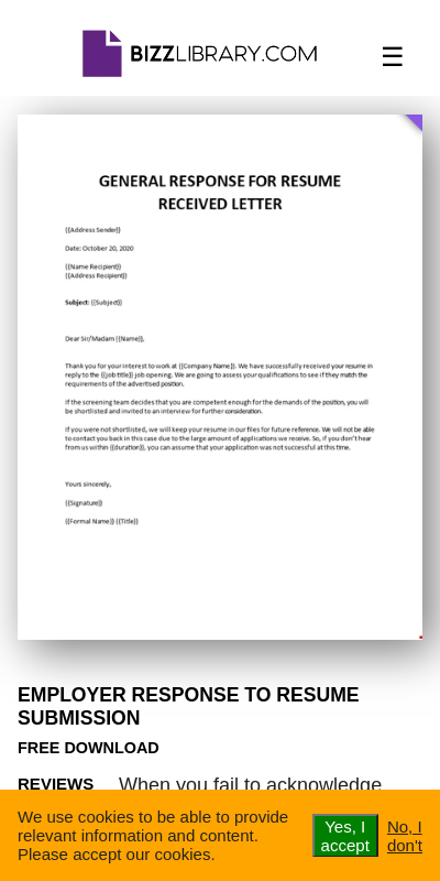 Employer response resume submission cheap problem solving proofreading website uk