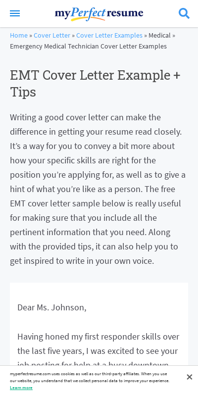 Emt Cover Letter No Experience 20 Guides Examples