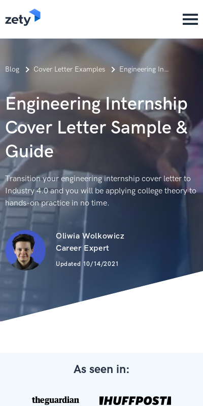 Mechanical Engineering Intern Cover Letter 20 Guides Examples